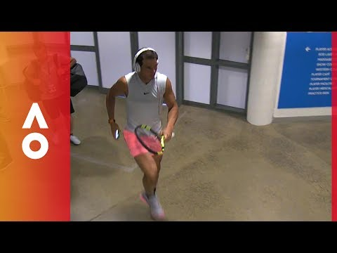 Rafael Nadal skips and dances through the corridors of Melbourne Park | Australian Open 2018