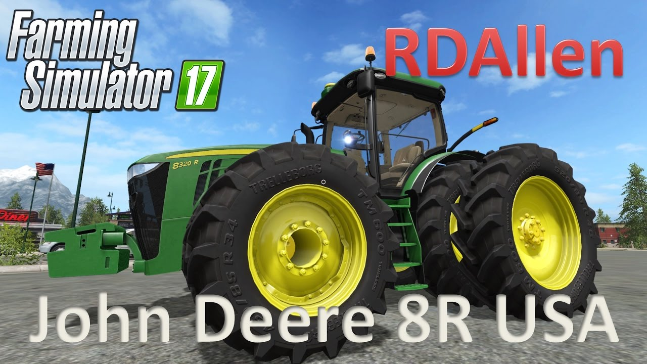John Deere 8R USA Version - Farming Simulator 17 Mod Review