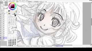 Speed draw - Chiyo lineart / fanart