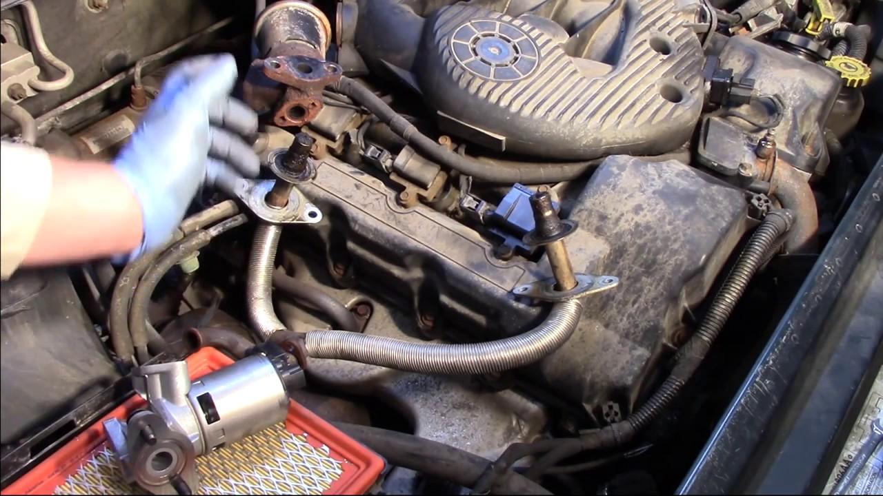 EGR Valve Installation  Dodge Chrysler Plymouth 27L  YouTube