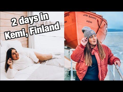 KEMI, FINLAND: Finnish Snacks, Ice Restaurant & Icebreaker Sampo Cruise