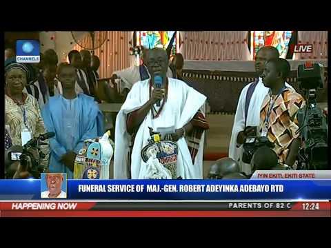 Funeral Service Of Major Gen Robert Adeyinka Adebayo Rtd Pt 6