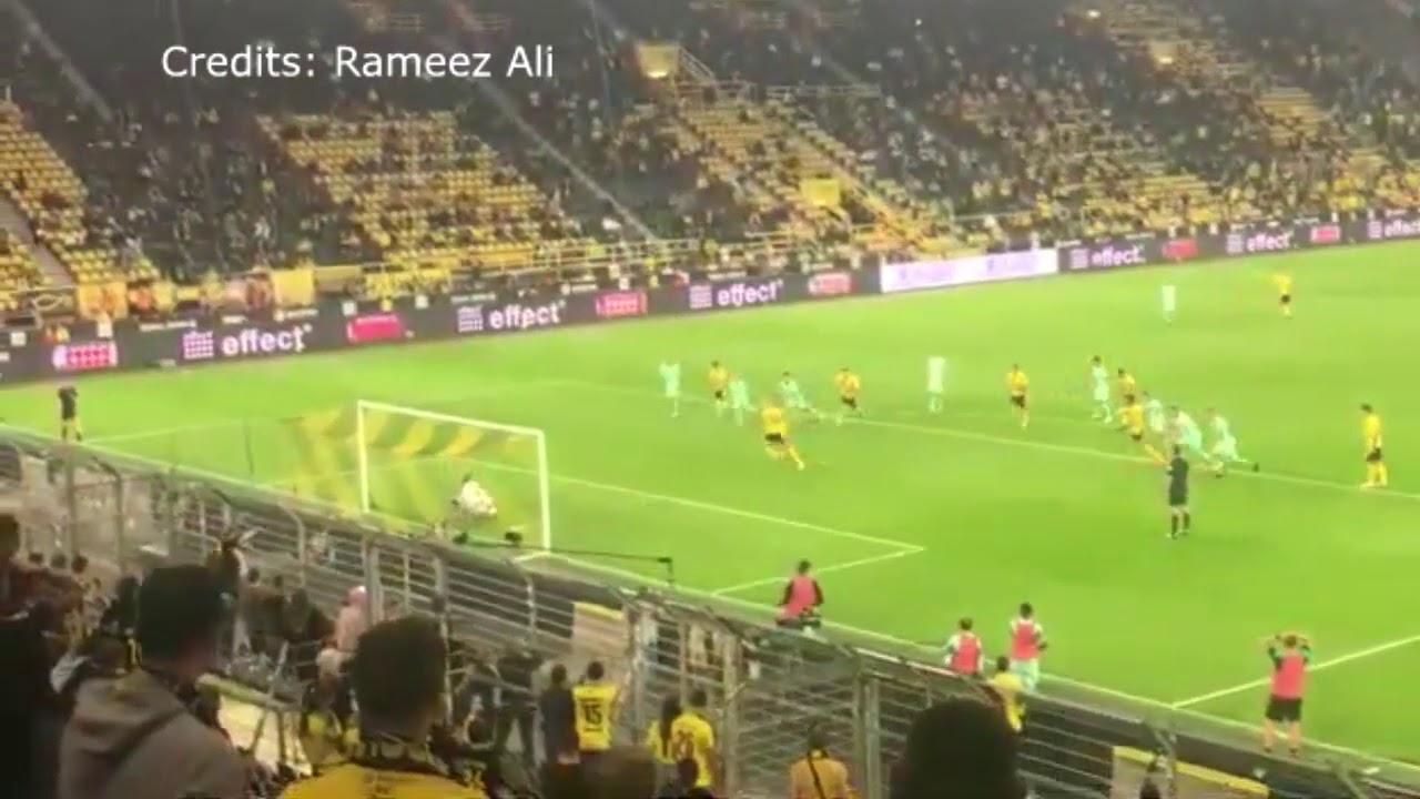 GOOL DE HAALAND VISTO DA ARQUIBANCADA | B. Dortmund 3x0 Mönchengladbach | HD 19/09/2020