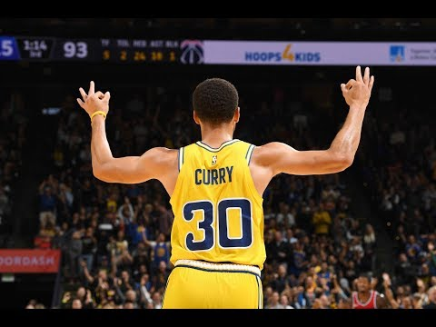 Steph Curry Drops 51 Points and 11 Threes in 3 Quarters vs. Wizards