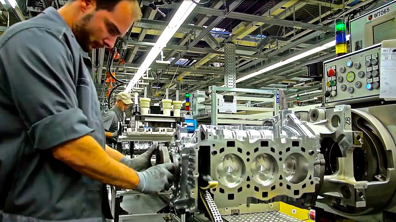 Porsche 911 Engine Assembly Line Youtube