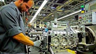 PORSCHE 911, engine assembly line