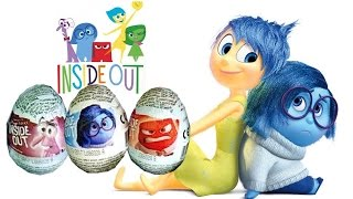 Inside Out Choco Surprise Eggs same as Kinder Huevos Sorpresa Divertida Mente Vice-Versa