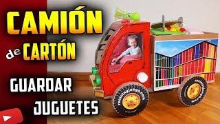 Como Hacer un CAMIÓN de CARTÓN para jugar y guardar los juguetes | How To Make A Storage Truck!!