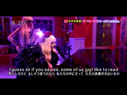 Lady Gaga   Applause acoustic ver  【Live Japanese TV Show December 10, 2013】