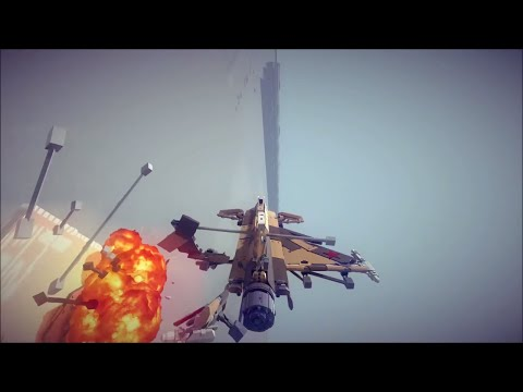 Jet Fighters Vs AA Cannons #4 | Besiege Multiplayer
