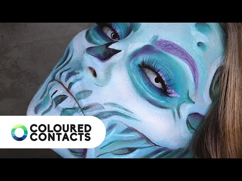 Halloween Contact Lenses Instructional Tutorial