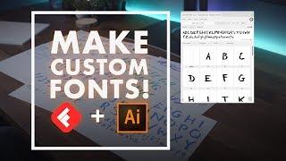How to make a custom font videos / InfiniTube