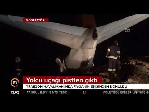 Ankara-Trabzon uçağı 20 metre ile denize düşmekten kurtuldu