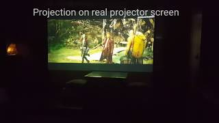 Ikea Roller Blinds Projection VS Real Projector Screen