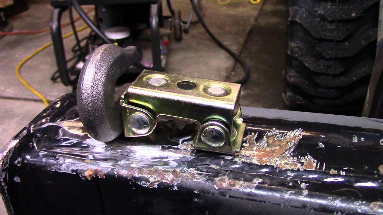 Miller Welding >> Welding Hooks to Tractor Bucket, Miller 211, Fein Grinder - YouTube