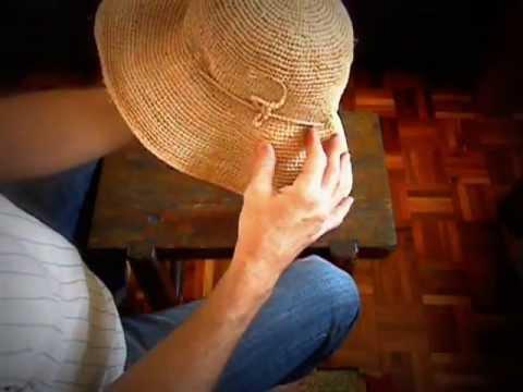 Hand Crochet Raffia Hat Youtube