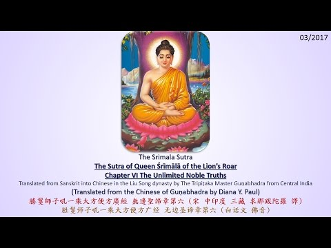 Srimala Sutra Ch.6 The Unlimited Noble Truths [Tathagatagarbha Sutras in English] (1080P)