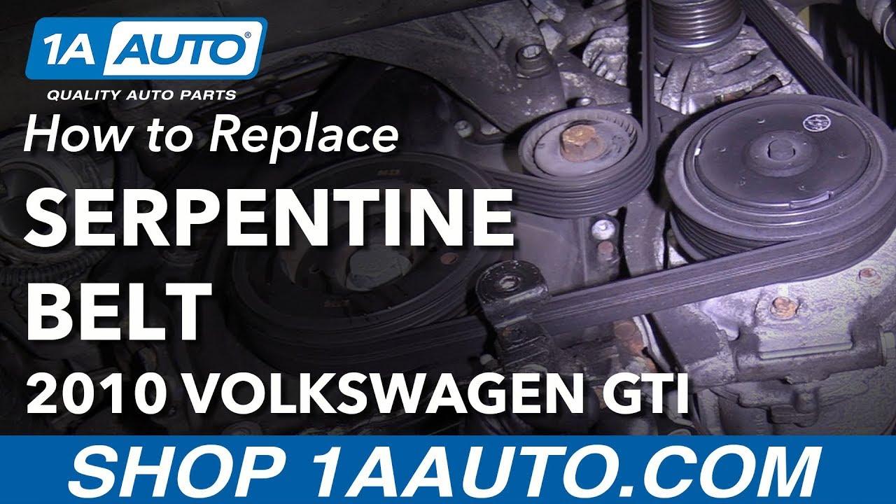 how to replace serpentine belt 10 14 volkswagen gti [ 1280 x 720 Pixel ]