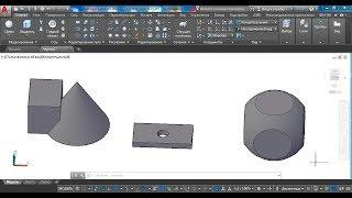 3D AutoCAD 2017: редактирование отверстий и булевых объектов