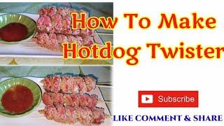 How To Make a Cruฑchy Hotdog Twister || Twister Hotdog