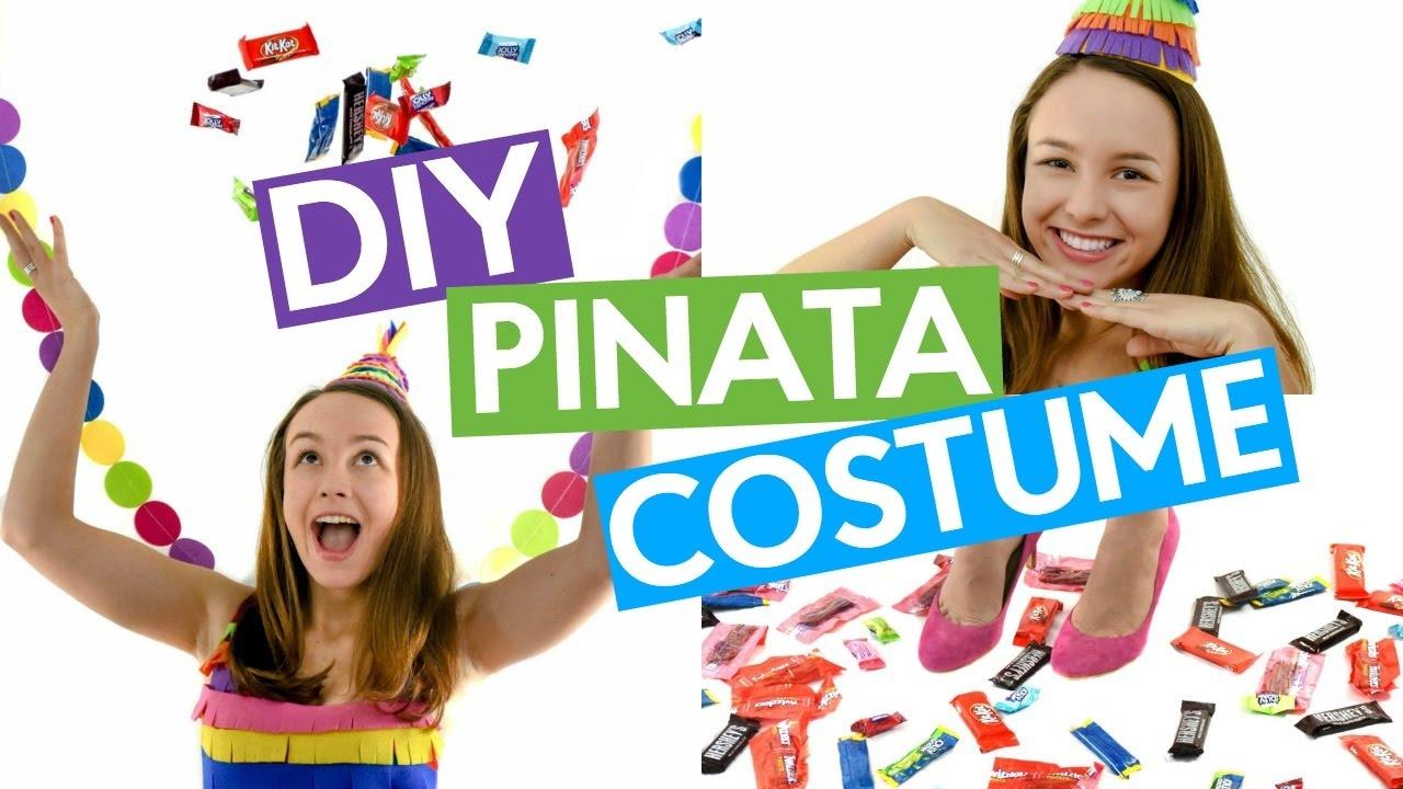 diy pinata costume | diy halloween costume - youtube