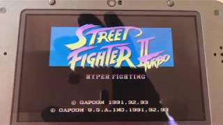 Nintendo 3DS  classic games (  street fighter turbo 2 / super street fighter 2 /  sonic 2 3D ) 2018