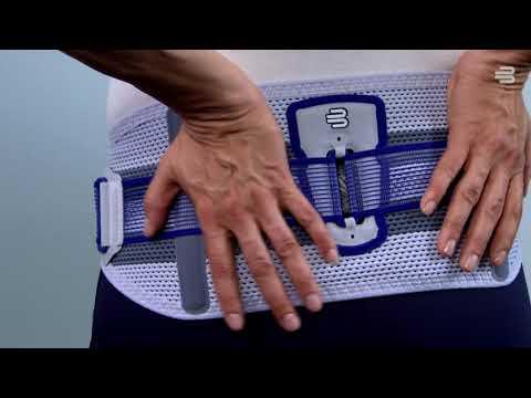 SacroLoc® - stabilisierende Beckenorthese anziehen