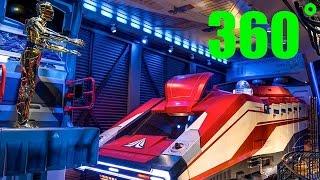 Star Wars Ride Full Line in HD 360˚ (Star Tours) Hollywood Studios, Disney World