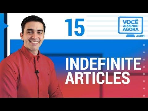 AULA DE INGLÊS 15 A/AN Indefinite Articles