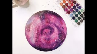 """How to Paint a Watercolor """"Galaxy"""" - Tutorial by Giovana Forrest"""