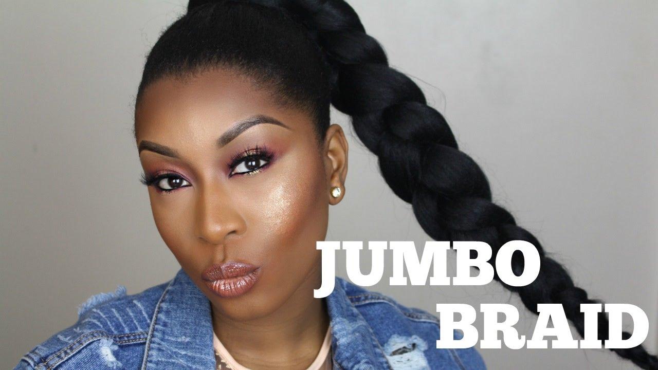 Jumbo Braid With Kanekalon Hair On Short Natural 4c Hair Youtube