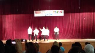 Mahdi Bashash and his classmates performing Michael Jackson