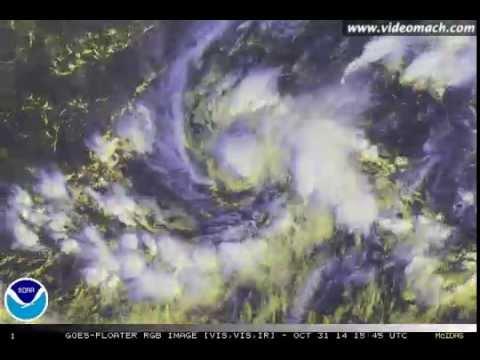 2014 East Pacific Hurricane Season Individual Storms Satellite Animation