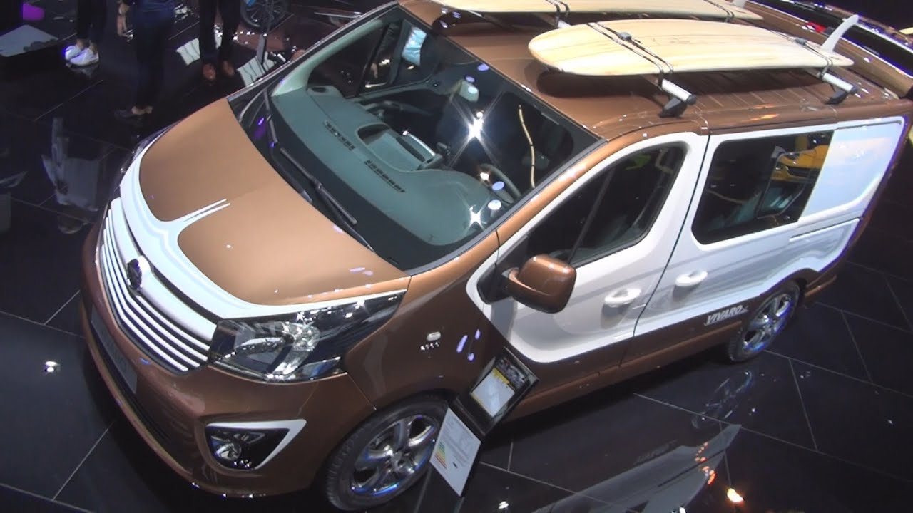 Opel Vivaro Surf Concept (2016) Exterior and Interior in 3D - YouTube