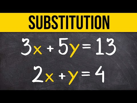 Learn To Solve A System Of Equations Using Substitution