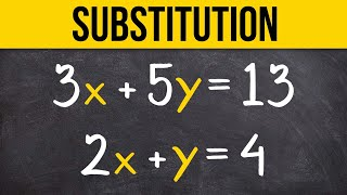 Learn to solve a system of equations using substitution thumbnail