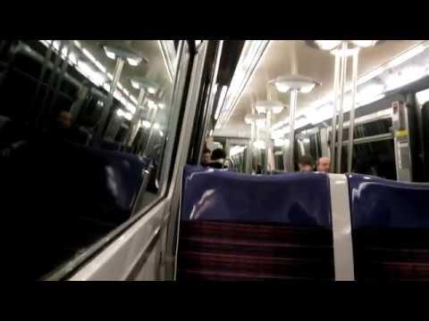 Metro in Paris (M13) - Porte de Vanves to Champs-Élysées - Clemenceau