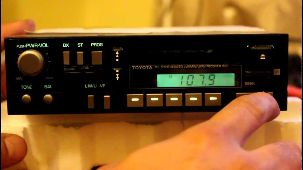 Toyota Fujitsu Ten Limited 1661 car stereo  YouTube
