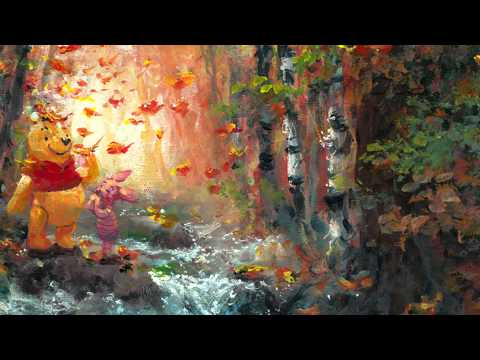 James Coleman Forest Brook In Fall From Disney Winnie The Pooh  Original Acylic On Canvas