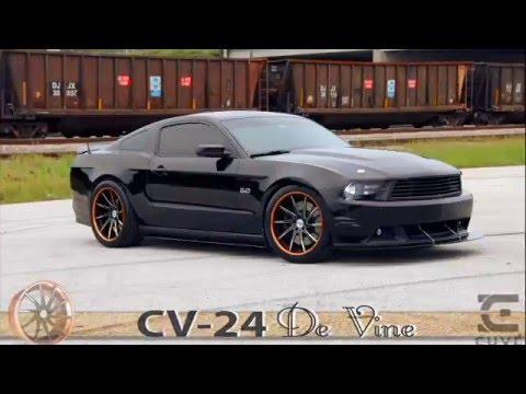 Ford Mustang 5 0 On Cuve Cv 24 De Vine 20 Inch Wheels