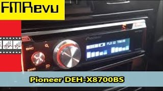 Pioneer DEH X8700BS CD MP3 USB Bluetooth Pandora Radio | Car Audio