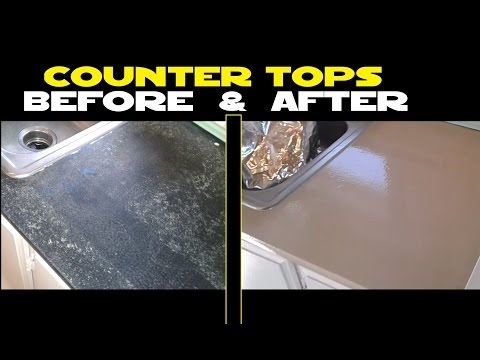 Make your counter tops look like new again with RUST-OLEUM Epoxy Shield