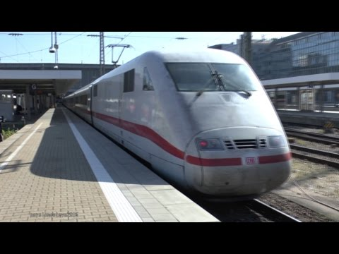 German ICE TRAIN, Stuttgart to Munich 2014.