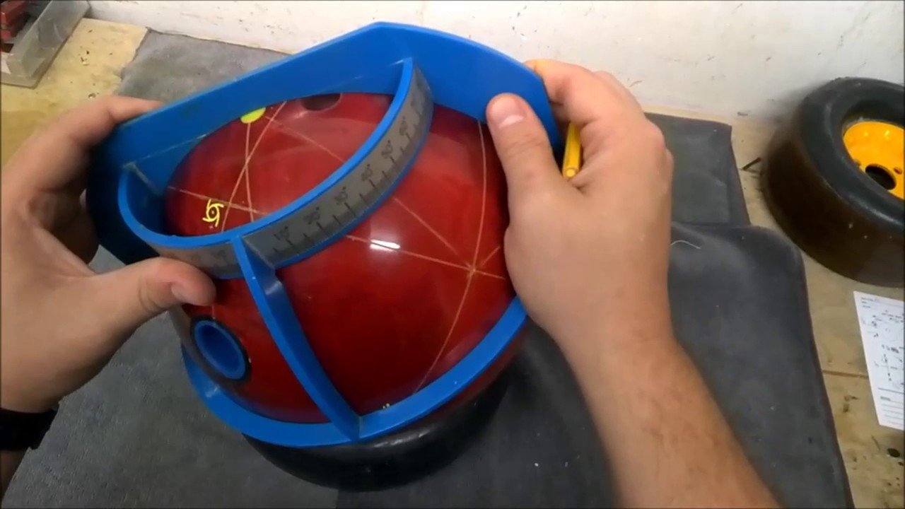Finding Dual Angle Layout On A Drilled Bowling Ball Bowlingball One Minute Wednesdays