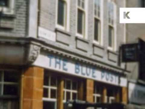 1960s Soho, London, Blue Posts Pub, Street Market - Rare Colour Home Movies
