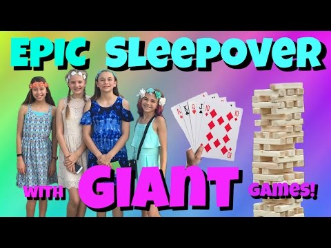 EPIC SLEEPOVER WITH KAYLA FROM WE ARE THE DAVISES & GIANT GAMES || Taylor And Vanessa