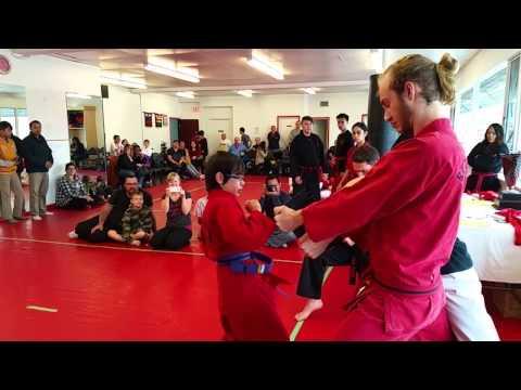 Matt Lee board break sparring competition
