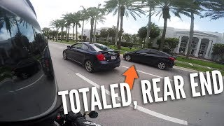JUST MISSED 6 CAR PILE UP, CLOSE CALLS, MOTORCYCLE vs BAD DRIVERS & MIAMI 2.0