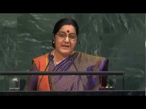 External Affairs Minister Smt. Sushma Swaraj addresses at United Nations General Assembly