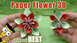 How To Make A Paper Flower   Flower Crafts For Children   Origami Best #origami